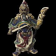 Ancient Chinese Warrior Ceramic Figurine Statue