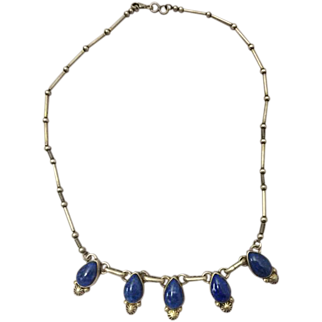 Sterling & Blue Lapiz Necklace