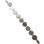 Mexico 925 Sterling Silver Bracelet - Circles