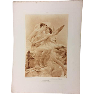 1893 Love and Psyche Photogravure, Lionel Royer
