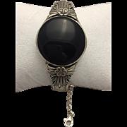 925 Sterling Bracelet with Black Onyx Centerpiece