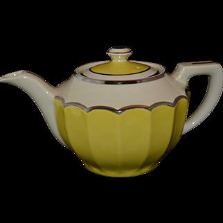 Deco Teapot - Fraunfelter - Yellow/Cream/Silver