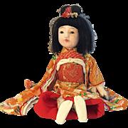 "Japanese Ichimatsu Girl 13"" Doll"