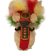 African Zulu Chief Hard Plastic Doll 6.5""