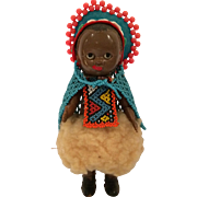 African Zulu Woman Hard Plastic Doll 6.5""