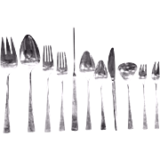"""Reed Barton Sterling Silver """"Dimension"""" Flatware Set - 73 pieces - 82.20 toz, Box included"""