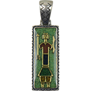 Carolyn Pollack Sterling Silver Native American Mosaic Pendant