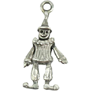 Vintage Sterling Silver Jumping Jack Christmas Tree Ornament Charm