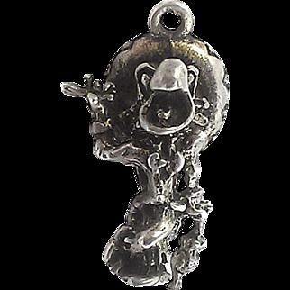 Vintage Disney The Three Caballeros José Carioca Sterling Silver Charm