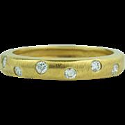 Very Large 18K Gold Diamond Ring Band Size 10