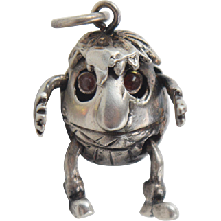 Humpty Dumpty Sterling Silver Movable Charm