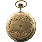 Antique Victorian Gold Filled Plate Mens Pocket Watch Hunter Case