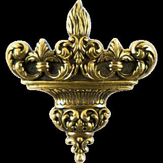 Vintage Torah Fund Judaica Pendant Pin Watch Fob