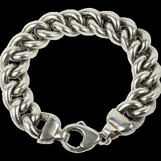 Milor Italy Curb Link Sterling Silver Bracelet