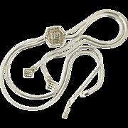 Judith Jack Sterling Silver Marcasite Lariat Slide Necklace Long