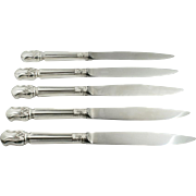 Duke of Windsor 1937 Sterling Silver Stainless Steel Steak Knives