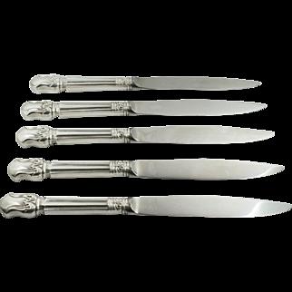 Duke of Windsor 1937 Sterling Silver Stainless Steel Steak Knives