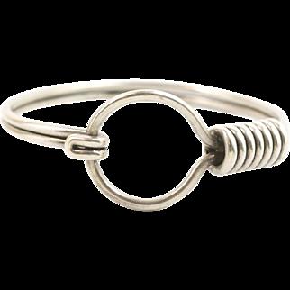 Handmade Mexico Sterling Silver Belt Buckle Bangle Bracelet