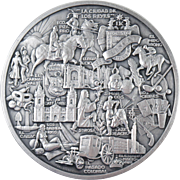 Ray Pelletier 1965 Sterling Silver Medal IV Conferencia Fifarma Lima-Peru