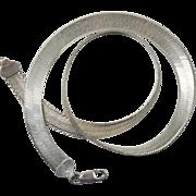 Vintage Sterling Silver Italian Snake Link Necklace
