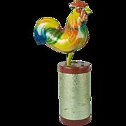 Vintage Rooster Tin Toy Wind-Up Old Original