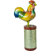 Vintage Rooster Tin Toy Wind-Up Old Original