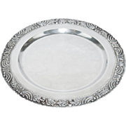 Vintage Mid Century NSCO Hammered Mexican Sterling Silver Tray