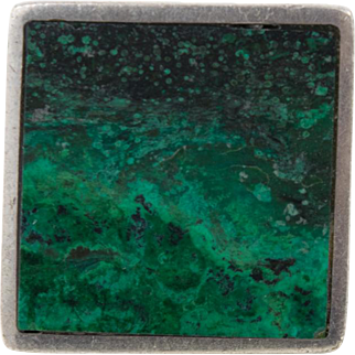Chunky Sterling Silver Malachite Or Eilat Turquoise Mens Ring 6.5