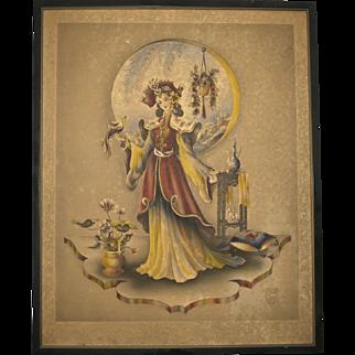 Stan David Asian Woman Aristocrat Chinese Imperial #1 Print Large