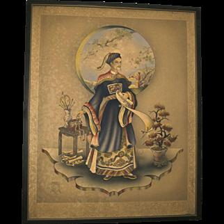 Stan David Asian Man Aristocrat Chinese Imperial #2 Print Large