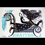 1954 Wiinblad Vanitas (blue version) - Original Vintage Poster
