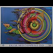 1977 Bjørn Wiinblad Artwork for IFOI Denmark - Original Vintage Poster