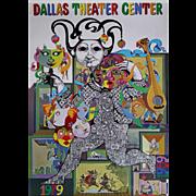 1979 Bjørn Wiinblad Artwork for Dallas Theater Centre - Original Vintage Poster