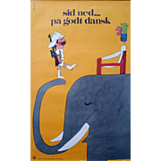1970s Danish Furniture Quality Control by Antoni (Safari) - Original Vintage Poster