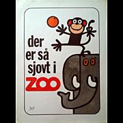 1970s Copenhagen Zoo - Original Vintage Poster