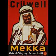 1950s Crüwell Tabak Mekka - Original Vintage Poster
