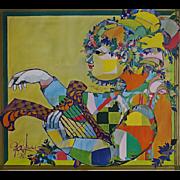 1973 Bjørn Wiinblad Exhibition Poster - Original Vintage Poster