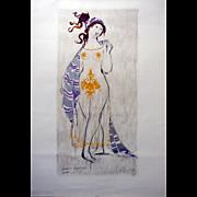 1970s Wiinblad Lysistrata Sketch - Original Vintage Poster