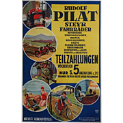 1920s Rudolf Pilat Industrial Poster - Original Vintage Poster