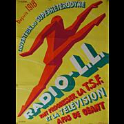 1930s Radio-L. L. - Original Vintage Poster