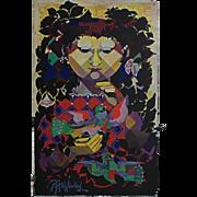 1970s Wiinblad Tapestry Layout - Original Vintage Poster