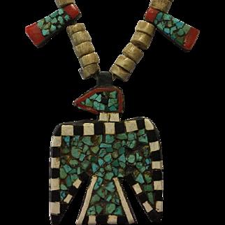Vintage Santo Domingo Thunderbird Tabular Necklace