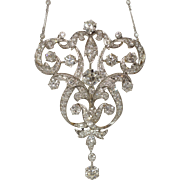 GIGANTIC Platinum Art Deco Diamond Necklace