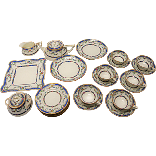 Antique Minton Ripon Blue Tea Set Circa 1917