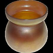 "Steuben Aurene American Art Glass Vase Opalescent Gold Purple 3.5"""