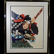 Hisashi Otsuka Large Lithograph Spirit of Musashi 1983