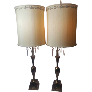 Set of Vintage Style Table Lamps, Bronze Sleek and Sophisticated.