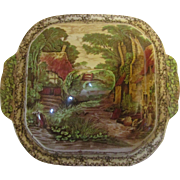 Royal Staffordshire, Clarice Cliff, artist of the 20 th century , Rural Scene Covered Dish
