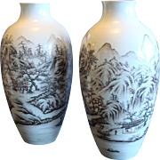 Chinese Sepia Vases