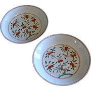 Pair of Famille Verte Small Low Bowls - Jiajing mark